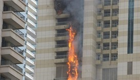 Fire at Dubai skyscraper put out, no injuries reported
