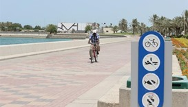 Riders undeterred by ban on cycling along Corniche