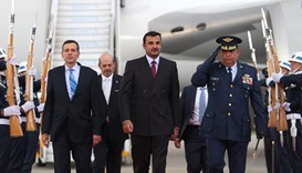 Emir arrives in Colombia