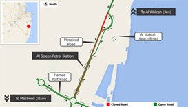 Six months diversion on Wakrah-Mesaieed road