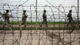 Indian soldiers at the border.