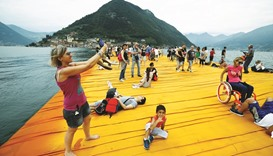 Last day to walk on water at Christo's Floating Piers