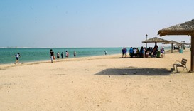 Picnickers at Al Khor beach last week
