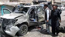 Bomb kills police chief, guard in southwest Pakistan