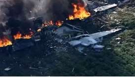 16 killed as US military plane crashes in Mississippi