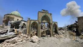 Mosul mosque where Islamic State took world stage lies in rubble