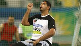 Abdullah Hayayei competes in the IPC Athletics World Championships in 2015