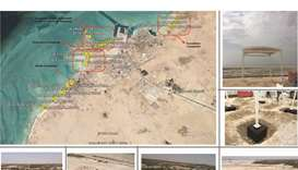 Shelter plan for Al Ruwais and Abu Dhalouf beaches