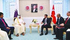 HE Sheikh Ahmed bin Jassim bin Mohamed al-Thani holding talks with Turkish Economy Minister Nihat Ze