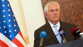 US Secretary of State Rex Tillerson looks on during a press conference in Doha.  July 11, 2017 file