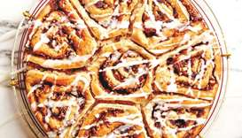 Berrylicious Cinnamon Rolls Photo by the author