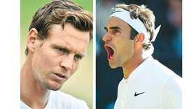 Federer steps into Wimbledon land of the giants