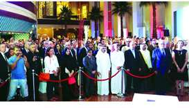 Dignitaries and guests during French National Day reception held Friday at in Doha. PICTURE: Jayan O