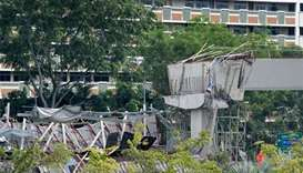 Singapore suspends works after viaduct collapse kills worker