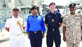 British navy vessel arrives for joint exercise