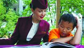 Qatar Airways donates books to children in New York City