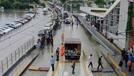 Heavy rainfall hits Istanbul causing transport chaos