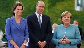 William and Kate meet Merkel during pre-Brexit charm tour