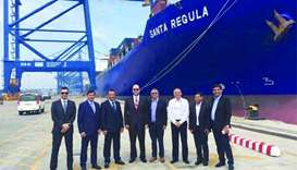 Mwani Qatar officials tour India's Mundra port