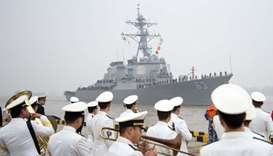 US warship sails close to island occupied by Beijing