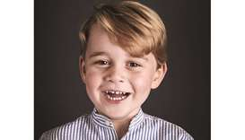 Royals release portrait of George