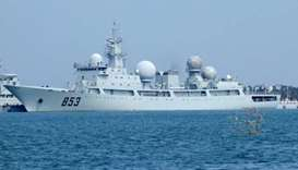 A Dongdiao-class auxiliary general intelligence vessel of China