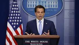 New White House Communications Director Scaramucci addresses daily briefing at the White House in Wa