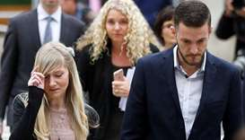 Charlie Gard's parents Coonie Yates and Chris Gard arrive at the High Court ahead of a hearing on th