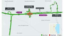 Traffic diversion near Al Shefallahiya Interchange