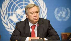 UN chief hails Qatar's support to Palestine