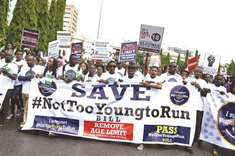 Young Nigerians demand an end to political age limits before next vote