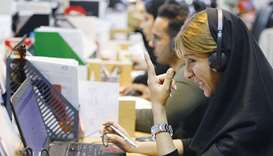 Bamilo employees work at the e-commerce site's offices in the Iranian capital Tehran.