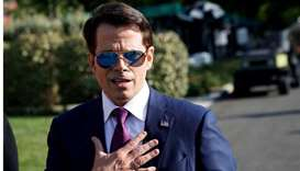 White House Communications Director Anthony Scaramucci speaks after an on air interview at the White