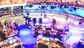 File photo shows an Al Jazeera studio