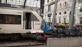 Commuter train crash in Barcelona station injures 54