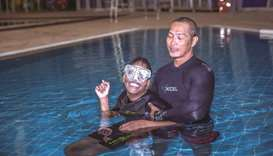 Aspire hosting aquatics training for people with special needs