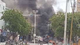 Car bomb goes off busy street in Somalia capital, Mogadishu