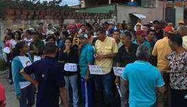 People waiting to vote in Venezuela
