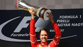 Vettel wins Hungarian GP in Ferrari one-two