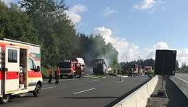 Germany bus accident leaves up to 18 feared dead