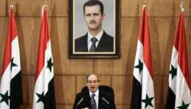 Syrian Deputy Foreign and Expatriates Minister, Faisal al-Moqdad, speaks at a press conference in th