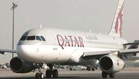 Qatar Airways' Airbus A320 aircraft