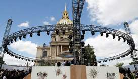 People arrive before Christian Dior 2017  Haute Couture collection show in Paris