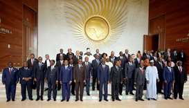 Heads of states and governments pose for a group photo- 29th Ordinary Session of the Assembly of the