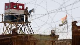 An Egyptian army checkpoint in Sinai. File picture.