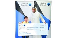Ahlibank names youngster as QR1mn prize draw winner