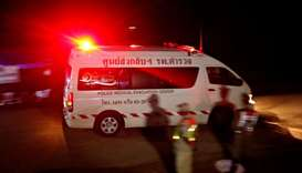 The last ambulance leaves from Tham Luang cave complex