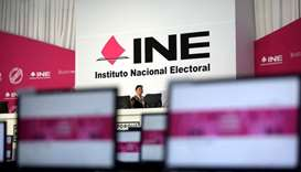 An interior view of the INE headquarters is seen ahead of the presidential election in Mexico City