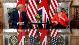 Trump says relationship with UK is very, very strong