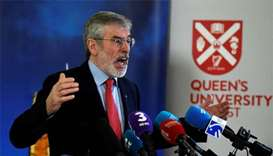 Explosive thrown at house of ex-Sinn Fein leader Adams